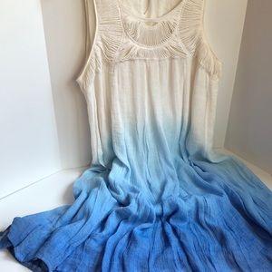 Water Lily gauze crepe ombré sleeveless dress L